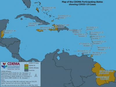 CDEMA Situation Report #12 - COVID-19 Outbreak in CDEMA Participating States - as of 8:00pm on May 28th, 2020