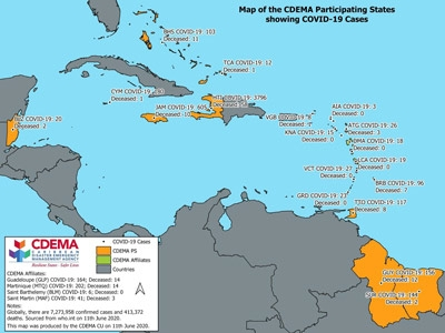 CDEMA Situation Report #14 - COVID-19 Outbreak in CDEMA Participating States - as of 8:00pm on June 11th, 2020